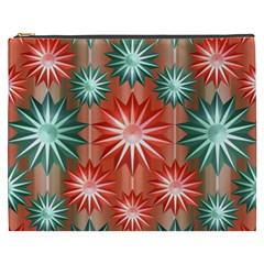 Stars Patterns Christmas Background Seamless Cosmetic Bag (xxxl)