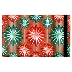 Stars Patterns Christmas Background Seamless Apple Ipad 3/4 Flip Case
