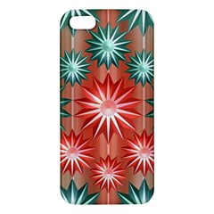 Stars Patterns Christmas Background Seamless Apple Iphone 5 Premium Hardshell Case by Nexatart