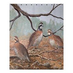 Bob White Quail Shower Curtain 60  X 72  (medium)  by theunrulyartist