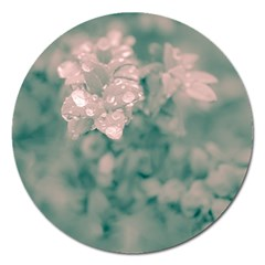 Surreal Floral Magnet 5  (round) by dflcprints