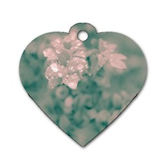 Surreal Floral Dog Tag Heart (one Side)