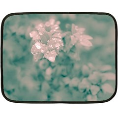 Surreal Floral Double Sided Fleece Blanket (mini)  by dflcprints