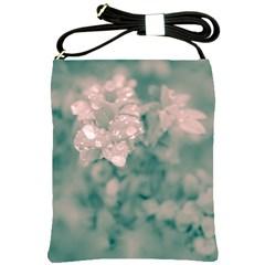 Surreal Floral Shoulder Sling Bags by dflcprints