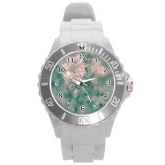 Surreal Floral Round Plastic Sport Watch (l) by dflcprints