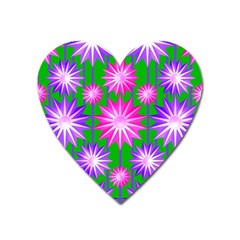Stars Patterns Christmas Background Seamless Heart Magnet