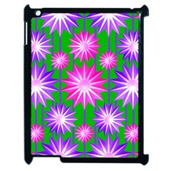 Stars Patterns Christmas Background Seamless Apple Ipad 2 Case (black)