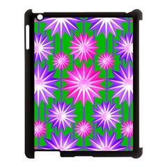 Stars Patterns Christmas Background Seamless Apple Ipad 3/4 Case (black) by Nexatart