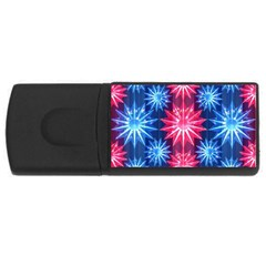 Stars Patterns Christmas Background Seamless Usb Flash Drive Rectangular (4 Gb) by Nexatart