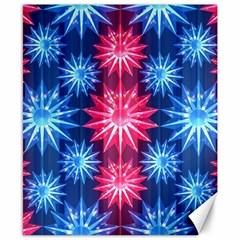 Stars Patterns Christmas Background Seamless Canvas 8  X 10