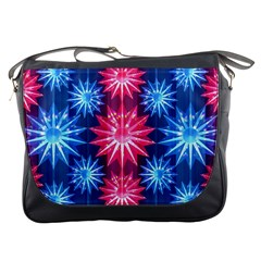 Stars Patterns Christmas Background Seamless Messenger Bags