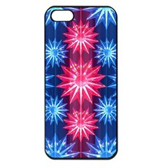 Stars Patterns Christmas Background Seamless Apple Iphone 5 Seamless Case (black)