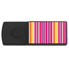 Stripes Colorful Background Pattern USB Flash Drive Rectangular (2 GB) by Nexatart