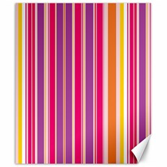 Stripes Colorful Background Pattern Canvas 20  X 24