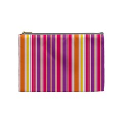 Stripes Colorful Background Pattern Cosmetic Bag (medium)