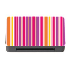 Stripes Colorful Background Pattern Memory Card Reader With Cf