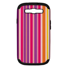 Stripes Colorful Background Pattern Samsung Galaxy S Iii Hardshell Case (pc+silicone) by Nexatart