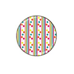 Stripes Polka Dots Pattern Hat Clip Ball Marker (10 Pack) by Nexatart