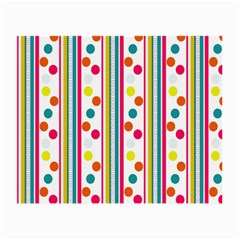 Stripes Polka Dots Pattern Small Glasses Cloth by Nexatart