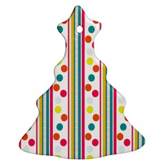 Stripes Polka Dots Pattern Ornament (christmas Tree)