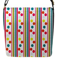 Stripes Polka Dots Pattern Flap Messenger Bag (s)