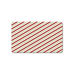 Stripes Striped Design Pattern Magnet (name Card) by Nexatart