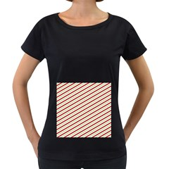 Stripes Striped Design Pattern Women s Loose Fit T Shirt (black)