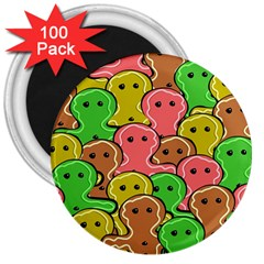Sweet Dessert Food Gingerbread Men 3  Magnets (100 Pack) by Nexatart