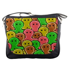 Sweet Dessert Food Gingerbread Men Messenger Bags by Nexatart