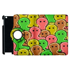 Sweet Dessert Food Gingerbread Men Apple Ipad 3/4 Flip 360 Case by Nexatart