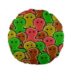 Sweet Dessert Food Gingerbread Men Standard 15  Premium Round Cushions by Nexatart