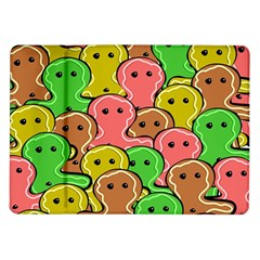 Sweet Dessert Food Gingerbread Men Samsung Galaxy Tab 10 1  P7500 Flip Case by Nexatart