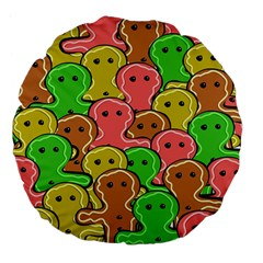 Sweet Dessert Food Gingerbread Men Large 18  Premium Flano Round Cushions by Nexatart