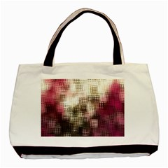 Stylized Rose Pattern Paper, Cream And Black Basic Tote Bag (two Sides) by Nexatart