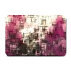 Stylized Rose Pattern Paper, Cream And Black Small Doormat  by Nexatart