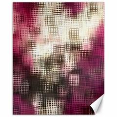 Stylized Rose Pattern Paper, Cream And Black Canvas 11  X 14   by Nexatart