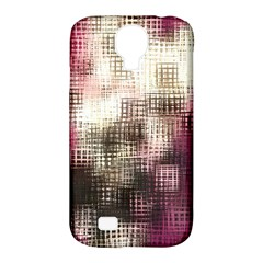 Stylized Rose Pattern Paper, Cream And Black Samsung Galaxy S4 Classic Hardshell Case (pc+silicone)