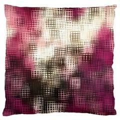 Stylized Rose Pattern Paper, Cream And Black Large Flano Cushion Case (One Side) by Nexatart