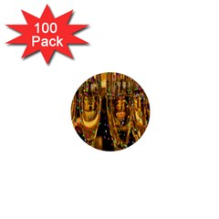 Sylvester New Year S Eve 1  Mini Buttons (100 Pack)