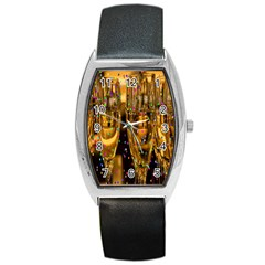 Sylvester New Year S Eve Barrel Style Metal Watch