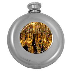 Sylvester New Year S Eve Round Hip Flask (5 Oz)