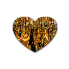 Sylvester New Year S Eve Heart Coaster (4 Pack)