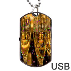Sylvester New Year S Eve Dog Tag Usb Flash (two Sides)