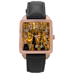 Sylvester New Year S Eve Rose Gold Leather Watch