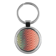 Texture Digital Painting Digital Art Key Chains (round)