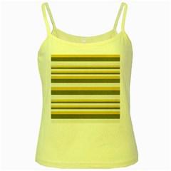 Textile Design Knit Tan White Yellow Spaghetti Tank by Nexatart