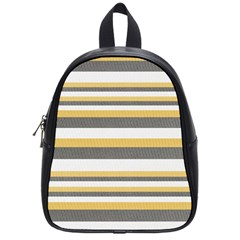 Textile Design Knit Tan White School Bags (Small)