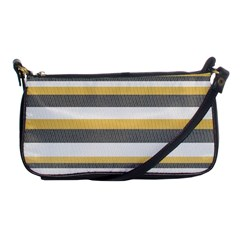 Textile Design Knit Tan White Shoulder Clutch Bags by Nexatart