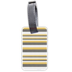 Textile Design Knit Tan White Luggage Tags (two Sides)