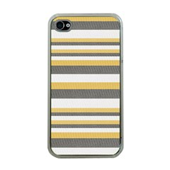 Textile Design Knit Tan White Apple Iphone 4 Case (clear)